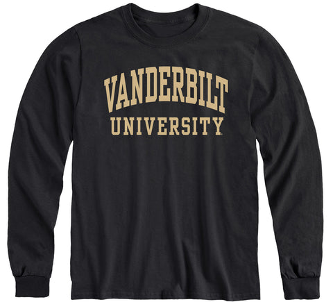 Vanderbilt University Classic Long Sleeve T-Shirt (Black)