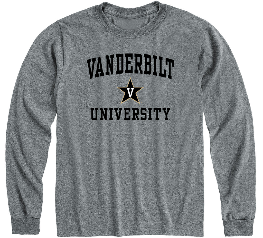 Vanderbilt University Heritage Long Sleeve T-Shirt (Charcoal Grey)