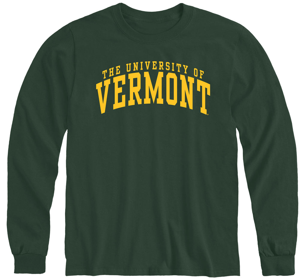 University of Vermont Classic Long Sleeve T-Shirt (Hunter Green)