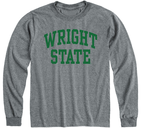 Wright State University Classic Long Sleeve T-Shirt (Charcoal Grey)
