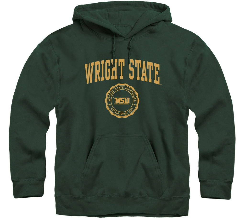 Wright State University Heritage Hooded Sweatshirt (Hunter Green)