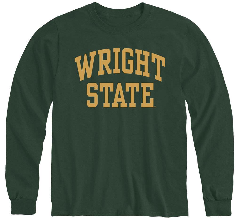 Wright State University Classic Long Sleeve T-Shirt (Hunter Green)