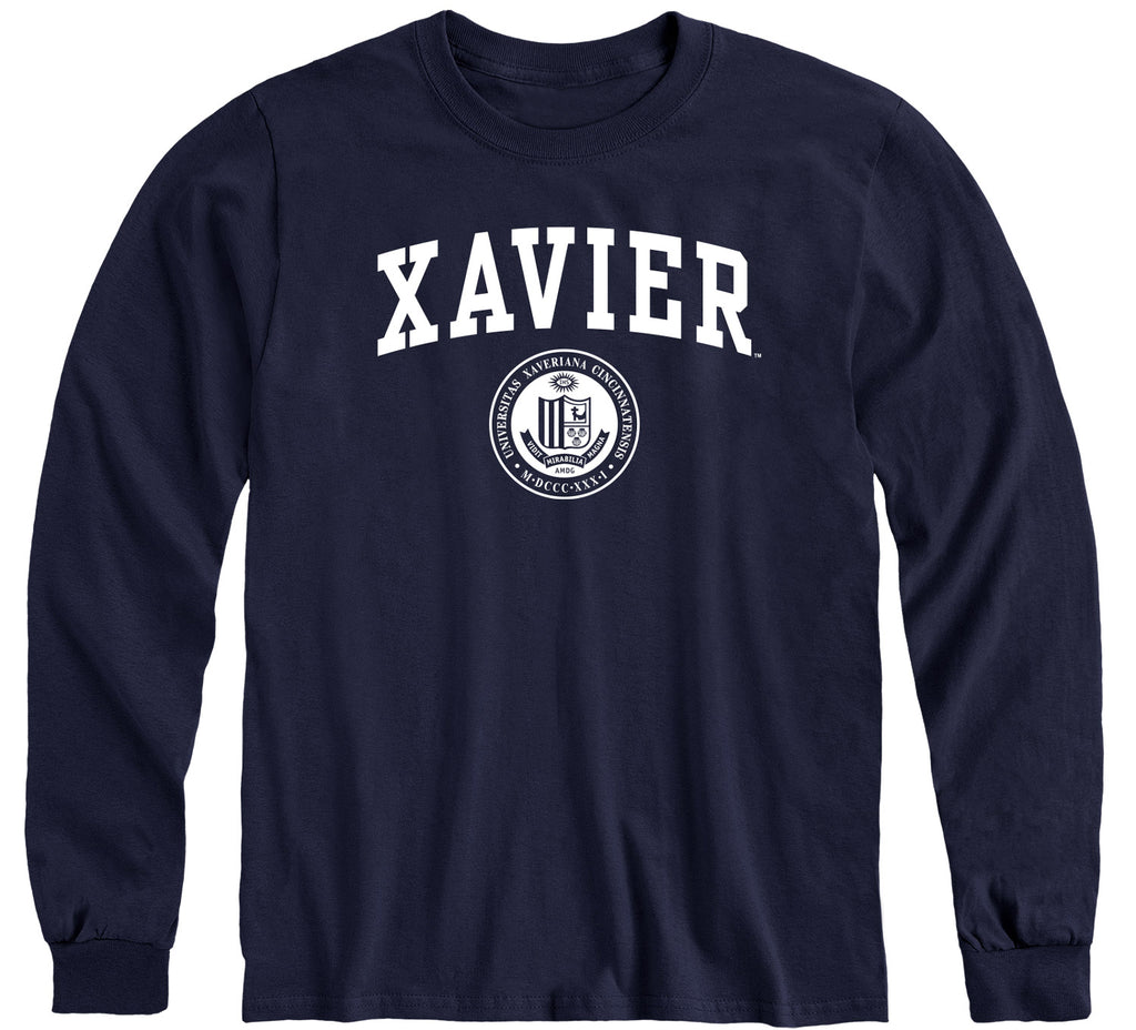 Xavier University Heritage Long Sleeve T-Shirt (Navy)