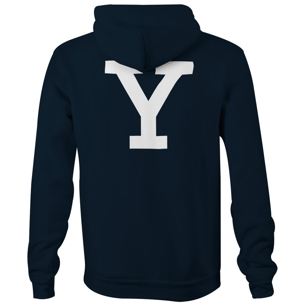 Yale - Letter - Hooded Sweatshirt (Navy)