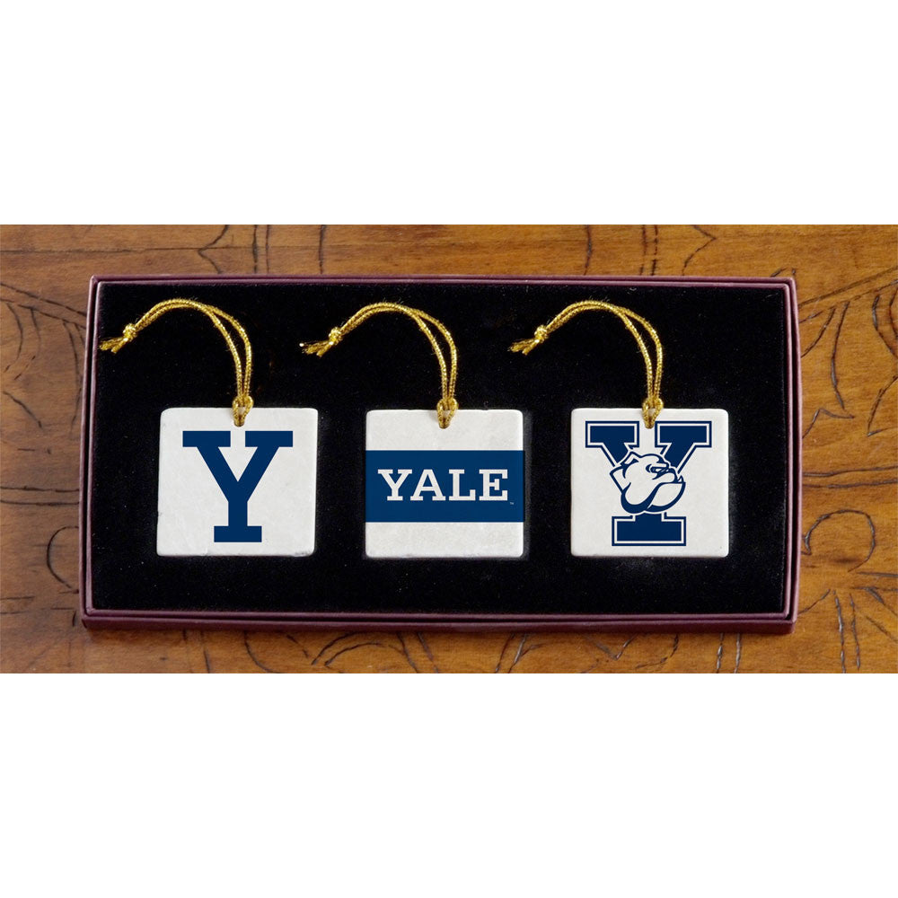 Yale - Christmas 3 Ornament Set