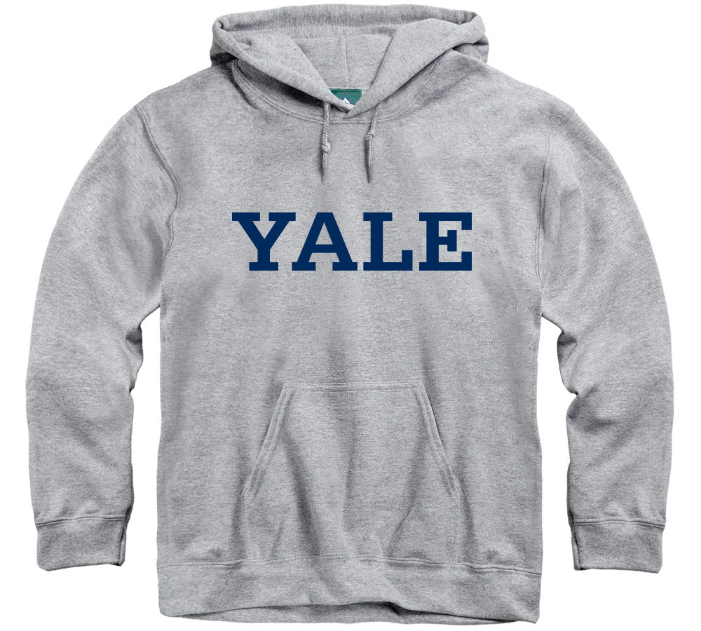 Yale Classic Hooded Sweatshirt (Heather Grey)