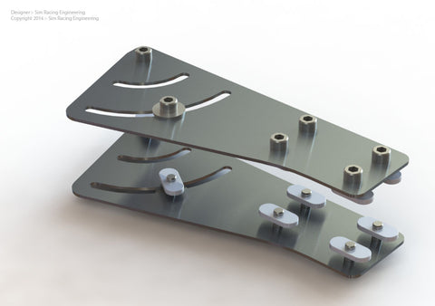 Triple Monitor Angle Adjustment Bracket - 0 to 70 deg - 25 Series