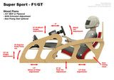 Plans - Super Sport F1/GT - Low Side - Wood