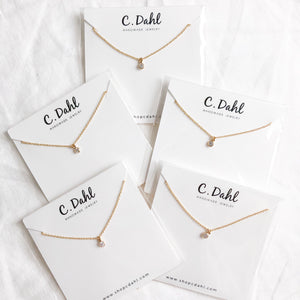 14K GF Mini Diamond Necklace - C.Dahl Jewelry | ShopCDahl