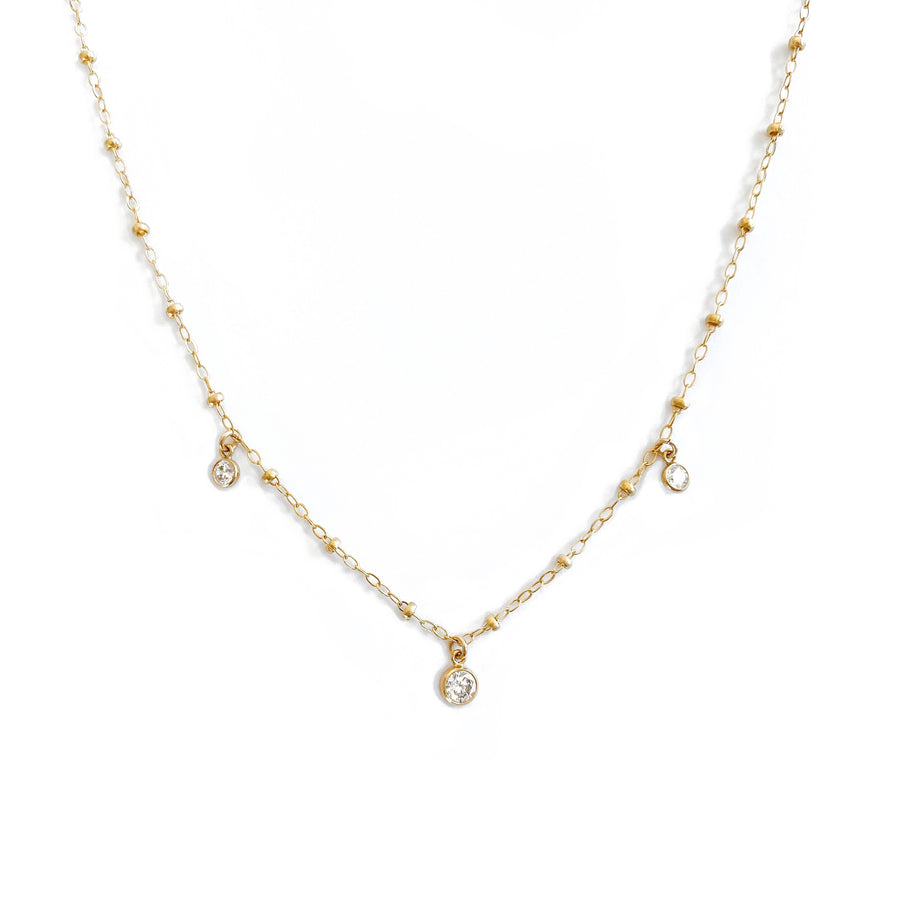 14K Daria diamond necklace