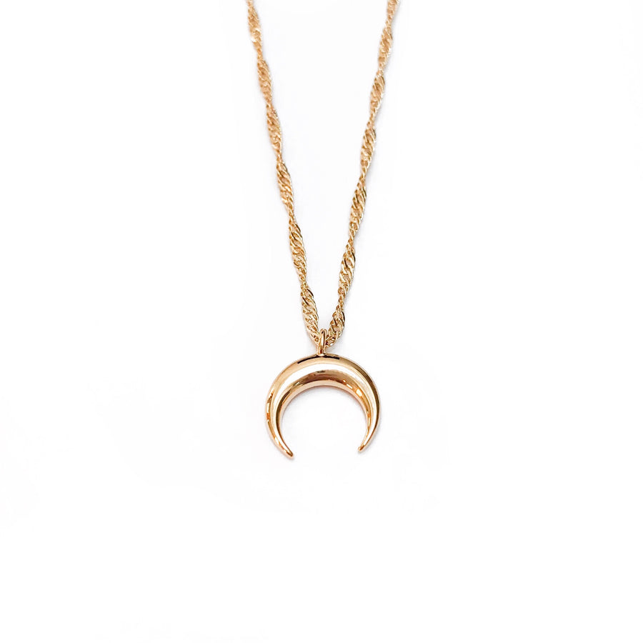 Gold Crescent Necklace - C.Dahl Jewelry | ShopCDahl