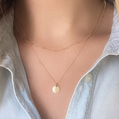 14K Initial Necklace | Customize - C.Dahl Jewelry | ShopCDahl