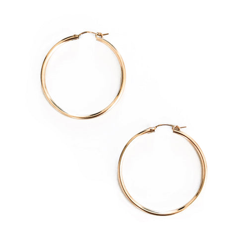 14K GF Bella Hoop Earrings [L] - C.Dahl Jewelry | ShopCDahl