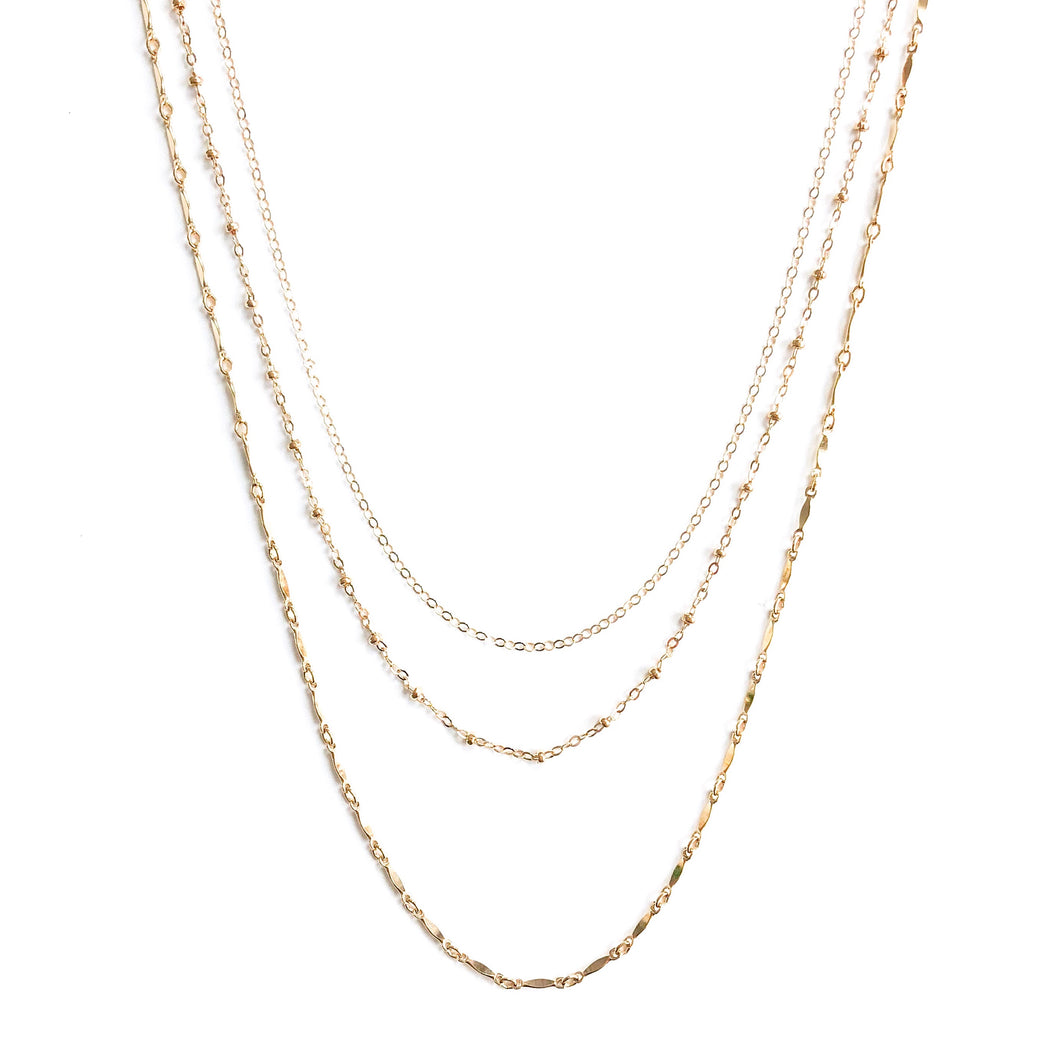 14K Kendy Trio Necklace - C.Dahl Jewelry | ShopCDahl