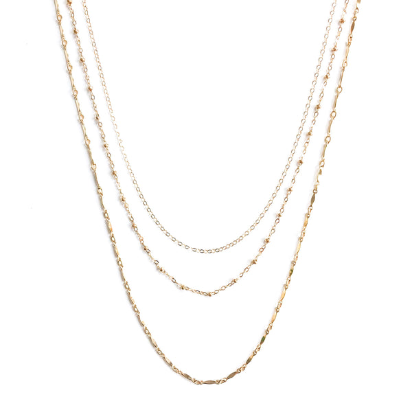 14K Kendy Trio Necklace