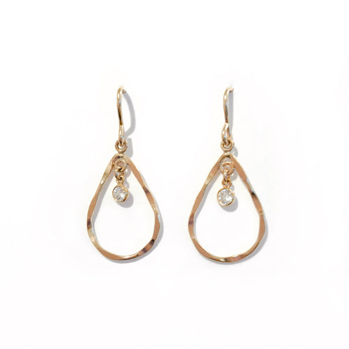 14K GF Diamond Teardrop Earrings - C.Dahl Jewelry | ShopCDahl