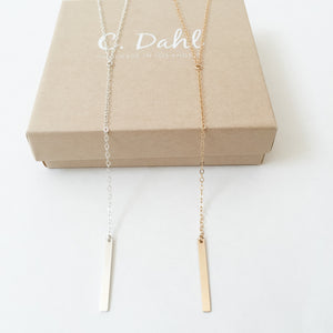 Lariat 'Y' Necklace | 14K Gold Fill or Sterling Silver - C.Dahl Jewelry | ShopCDahl
