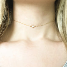 Load image into Gallery viewer, 14K Dainty Diamond Choker Necklace - C.Dahl Jewelry | ShopCDahl