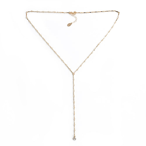 14K Dainty Diamond Lariat Necklace - C.Dahl Jewelry | ShopCDahl