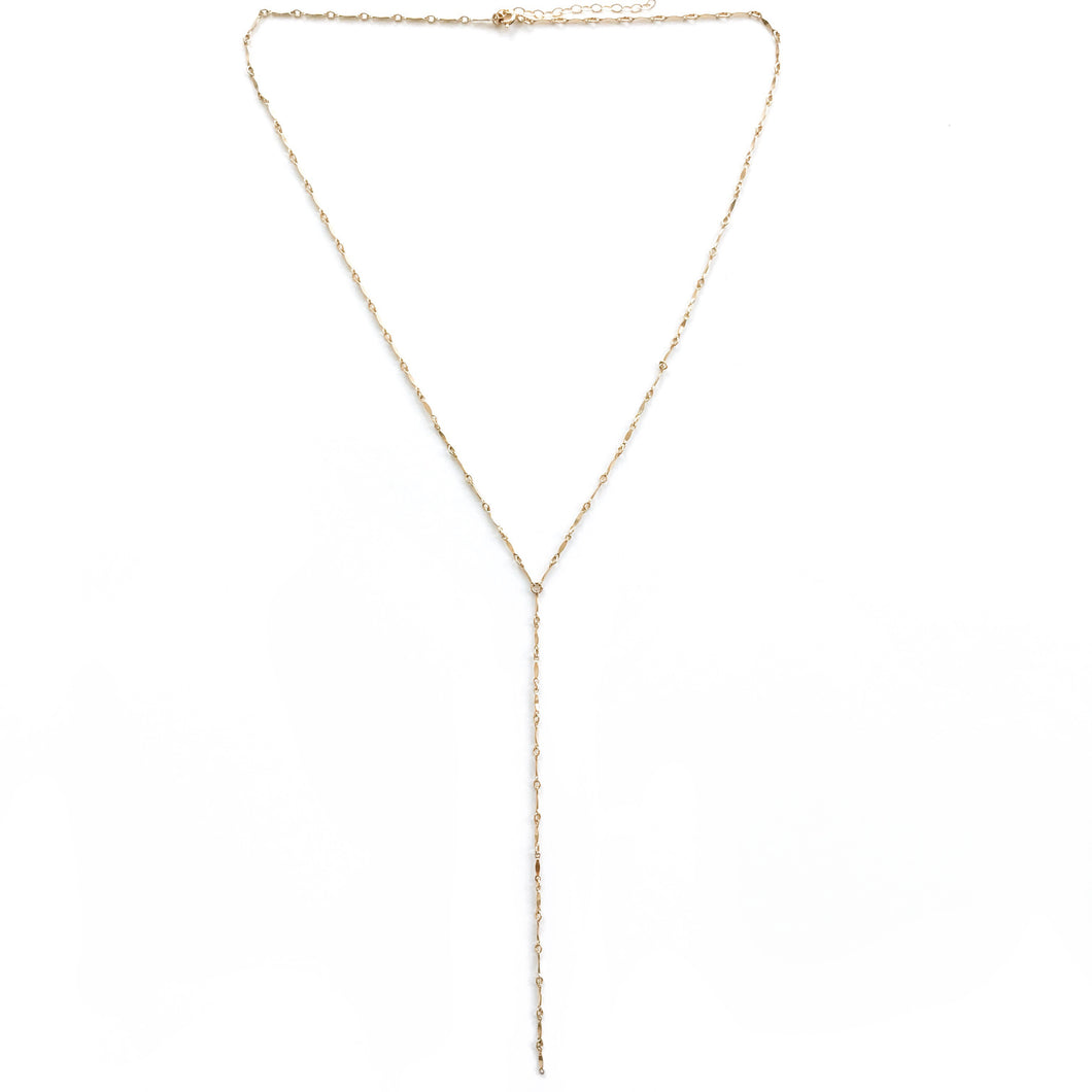 14K Ella Long Lariat Necklace - C.Dahl Jewelry | ShopCDahl