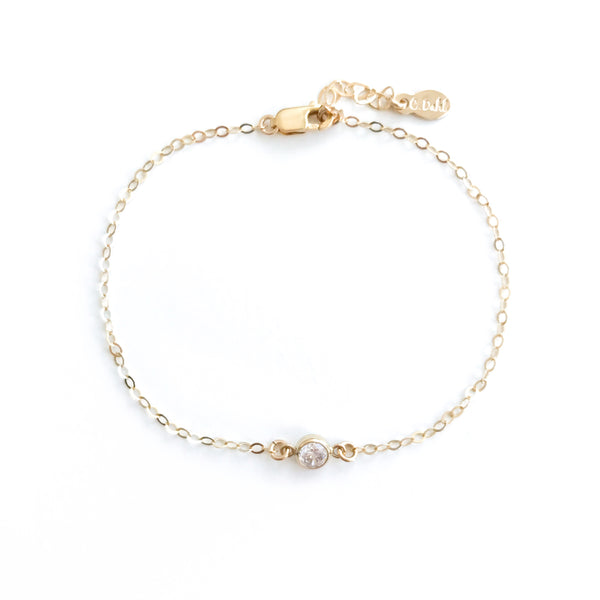 Gold diamond bracelet | Tiny Diamond bracelet gold