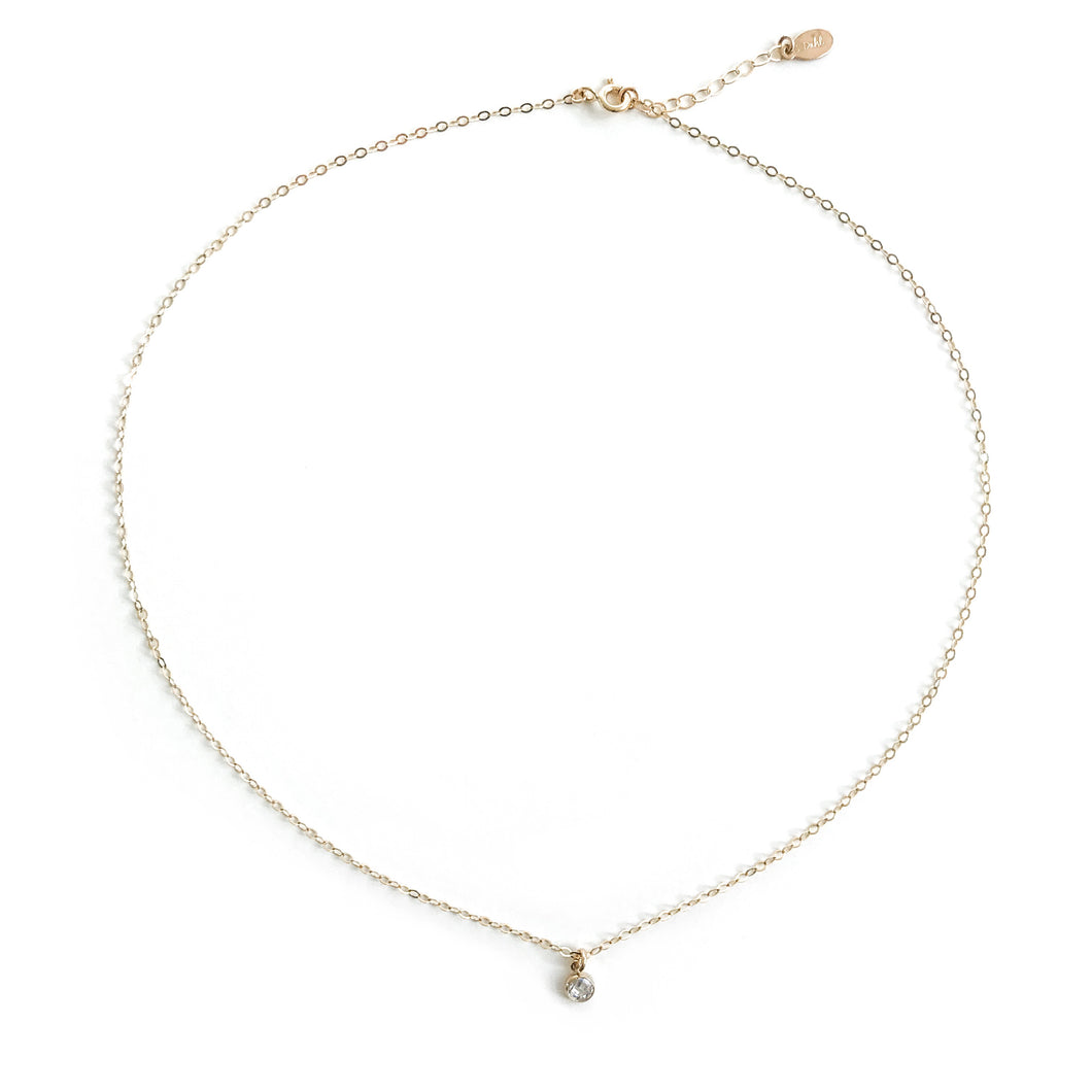 14K Petite Crystal Necklace - C.Dahl Jewelry | ShopCDahl