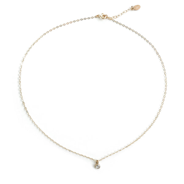 14K Petite Diamond Necklace