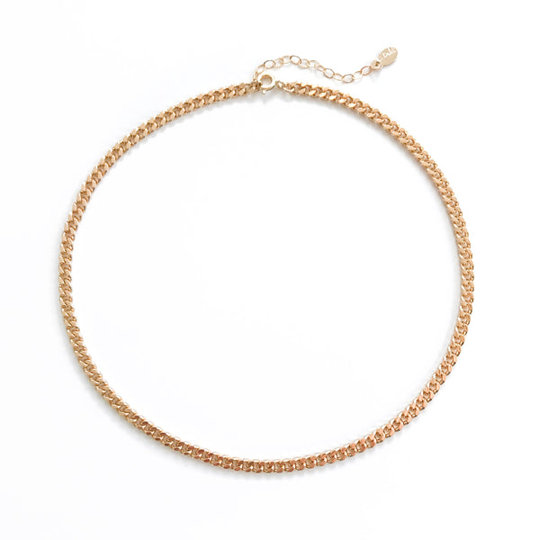 vintage gold choker chain
