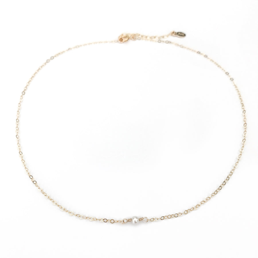 14K Dainty Pearl Necklace - C.Dahl Jewelry | ShopCDahl