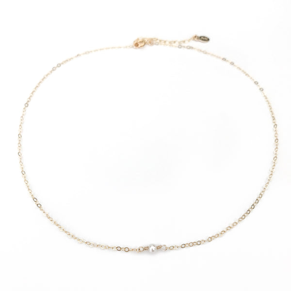 dainty pearl necklace kristina schulman