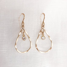Load image into Gallery viewer, 14K GF Diamond Teardrop Earrings - C.Dahl Jewelry | ShopCDahl
