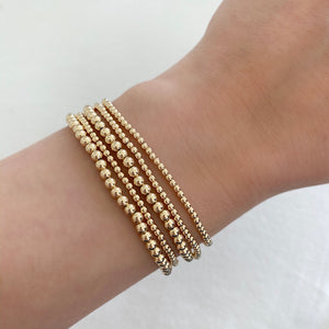14K GF Beaded Stretch Bracelet - C.Dahl Jewelry | ShopCDahl