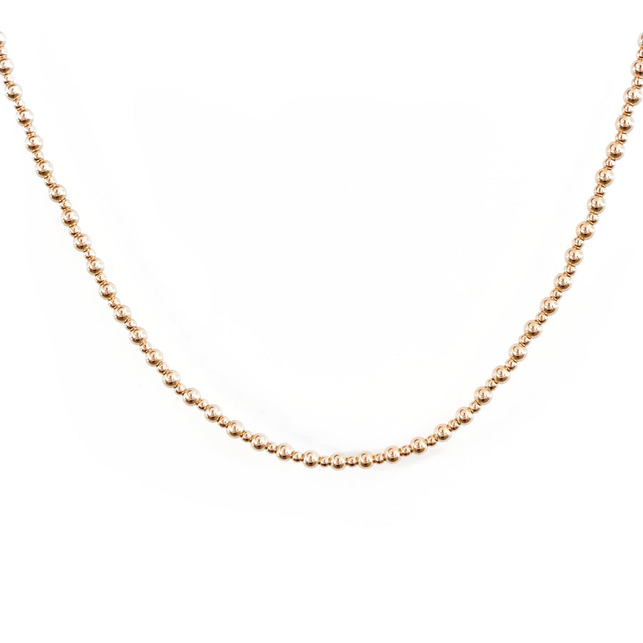 14K Mixed Beaded Choker Necklace