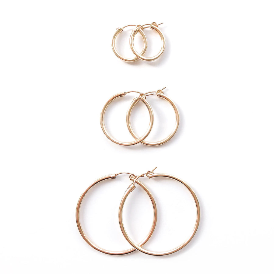 14K GF Baby Bella Hoop Earrings - C.Dahl Jewelry | ShopCDahl