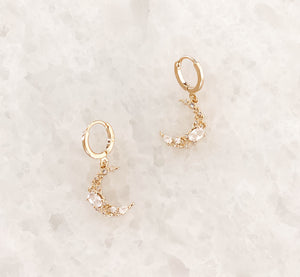 Crystal Crescent Earrings - C.Dahl Jewelry | ShopCDahl