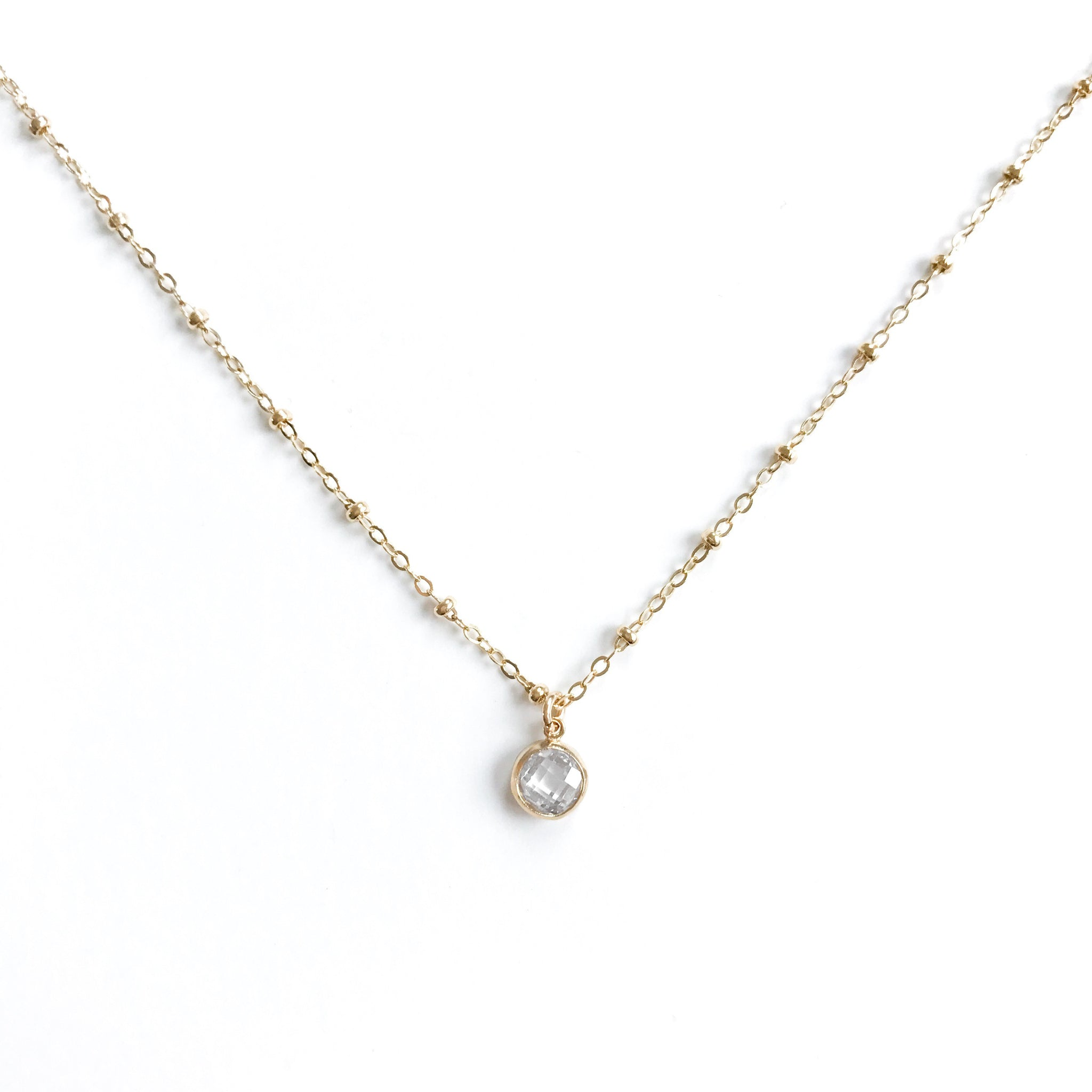 14K Essie Diamond Necklace