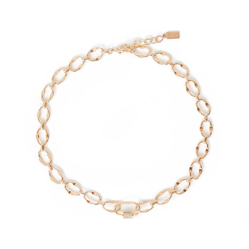Reverie Chain Lock Charm Choker - C.Dahl Jewelry | ShopCDahl