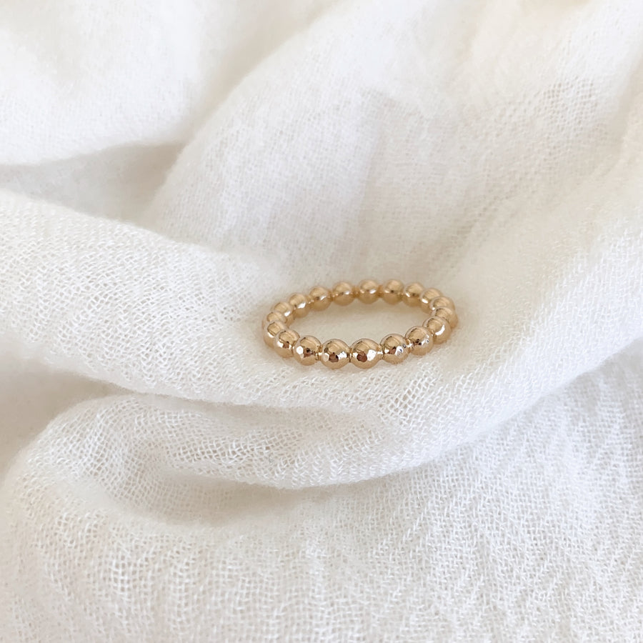 14K GF Thick Beaded Ring