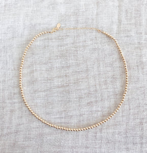 14K GF Beaded Choker Necklace