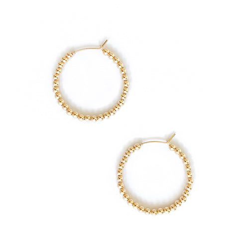 14K Beaded Hoop Earrings - C.Dahl Jewelry | ShopCDahl
