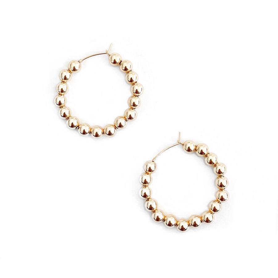 14K Thick Beaded Hoops - C.Dahl Jewelry | ShopCDahl