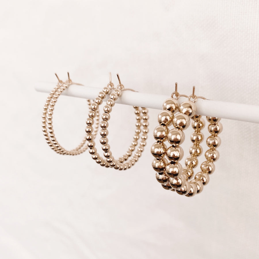 14K Dainty Beaded Hoop Earrings - C.Dahl Jewelry | ShopCDahl