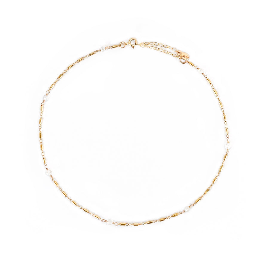 14K Malibu Moonstone Choker Necklace