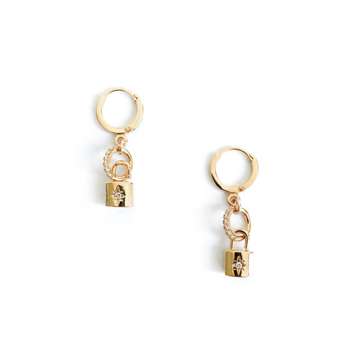 Gold Lock Earrings - C.Dahl Jewelry | ShopCDahl