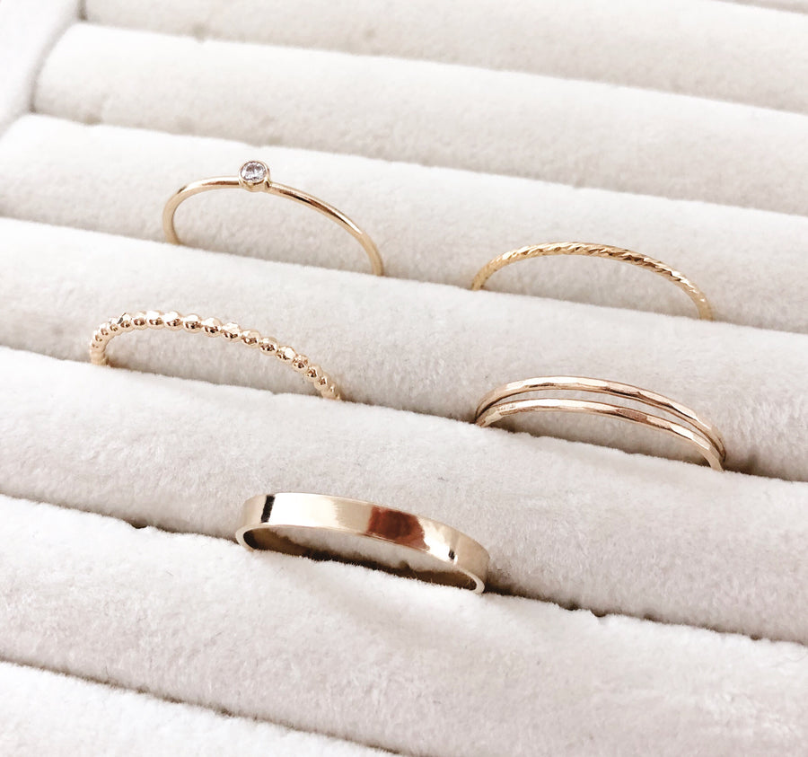 14K GF Flat Band Ring - C.Dahl Jewelry | ShopCDahl