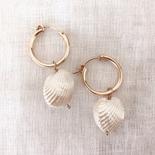 Load image into Gallery viewer, 14K GF Shell Hoop Earrings - C.Dahl Jewelry | ShopCDahl