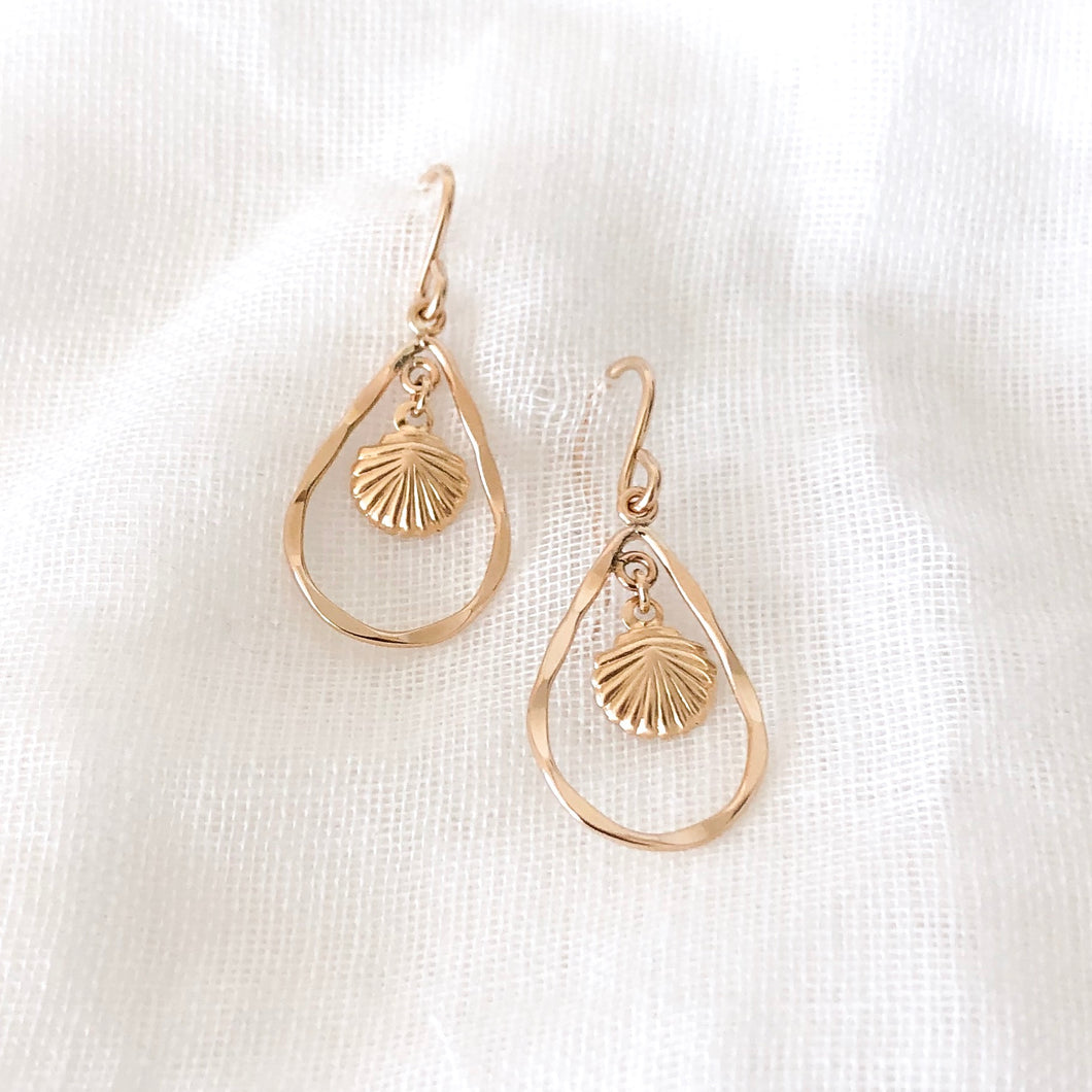 14K GF Shell Teardrop Earrings - C.Dahl Jewelry | ShopCDahl