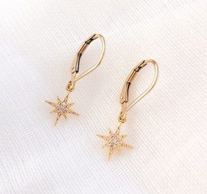 14K GF Sparkly Star Earrings - C.Dahl Jewelry | ShopCDahl