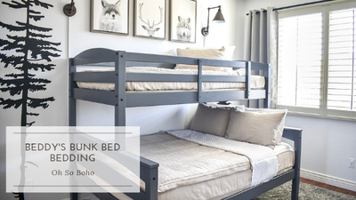Beddy's Bunk Bed Bedding: Oh So Boho