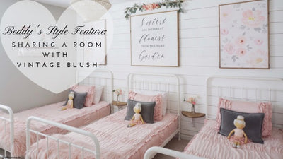 Beddy's Style Feature: Vintage Blush. Shared Girl's Room